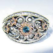 Украшения handmade. Livemaster - original item Silver ring with Swiss Topaz