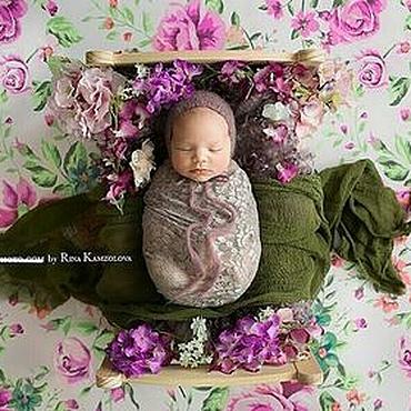 Работы для детей, ручной работы. Ярмарка Мастеров - ручная работа Марлевая обмотка для фотосессии новорожденных марля зеленая. Handmade.