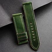Украшения handmade. Livemaster - original item Italian Cordovan Watch Band (15). Handmade.