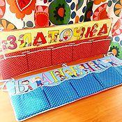 Для дома и интерьера ручной работы. Ярмарка Мастеров - ручная работа Именное панно-бортик с кармашками  (с именем вашего ребенка). Handmade.