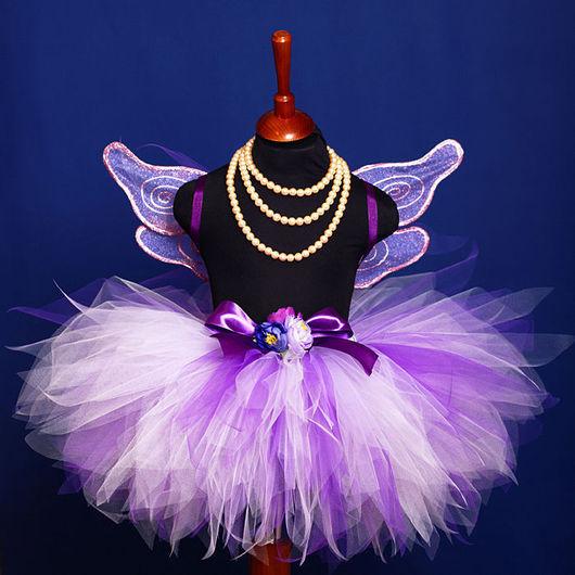 """Карнавальные костюмы ручной работы. Ярмарка Мастеров - ручная работа. Купить """"Сиреневая фея"""" карнавальный костюм юбка-пачка и крылья. Handmade."""