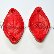 Материалы для творчества handmade. Livemaster - original item Silicone mold (Weiner) leaf, rose, mini, double-sided,large. Handmade.