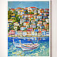 The picture with the boats 'Mixed Mediterranean' oil on canvas. Pictures. Multicolor Gallery. Online shopping on My Livemaster.  Фото №2