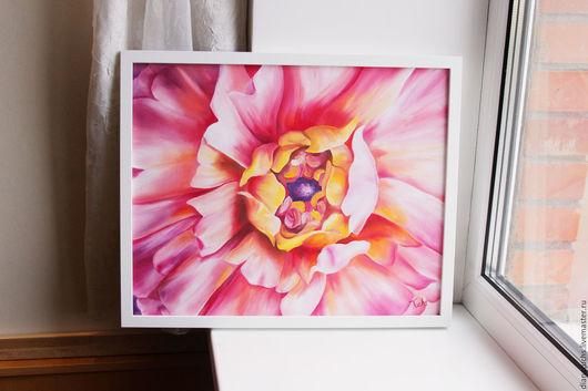 Картины цветов ручной работы. Ярмарка Мастеров - ручная работа. Купить Ранункулюс. Handmade. Ранункулюс, лилия, картина маслом, подарок