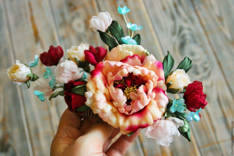 """Свадебная веточка """"Alegria"""". Цветы из шелка, цветы в прическу, Украшения, Москва, Фото №1"""