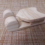 Blanks for decoupage and painting handmade. Livemaster - original item Blank. Sleigh wooden.. Handmade.