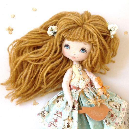 Ароматизированные куклы ручной работы. Ярмарка Мастеров - ручная работа. Купить Лиза. Handmade. Коллекционная кукла, текстильная кукла, мятный