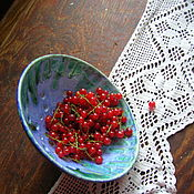 Посуда ручной работы. Ярмарка Мастеров - ручная работа Berry Bowl Тропинка в лесу. Handmade.