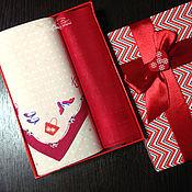 Подарки к праздникам ручной работы. Ярмарка Мастеров - ручная работа Платочек носовой женский Аксессуары с вышивкой инициалов монограммы. Handmade.