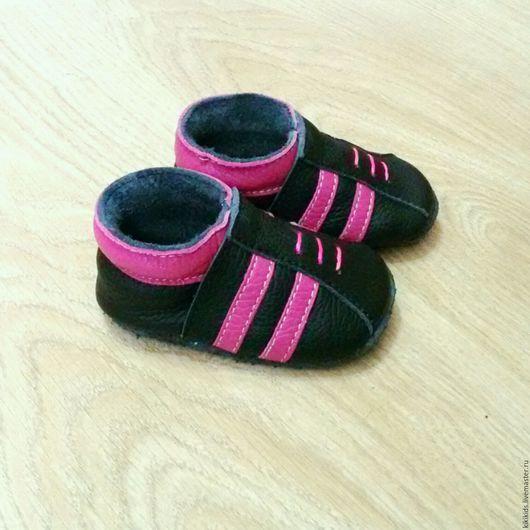 Детская обувь ручной работы. Ярмарка Мастеров - ручная работа. Купить Пинетки, чешки, мокасины Спорт 3. Handmade.