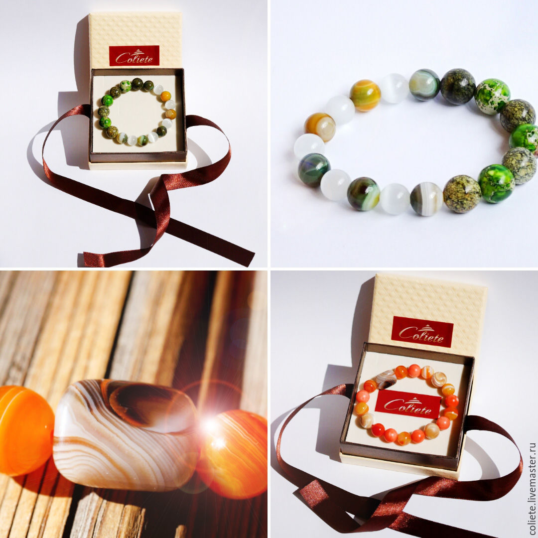 Special order for an energy bracelet made of stones according to the horoscope, Amulet, Moscow,  Фото №1