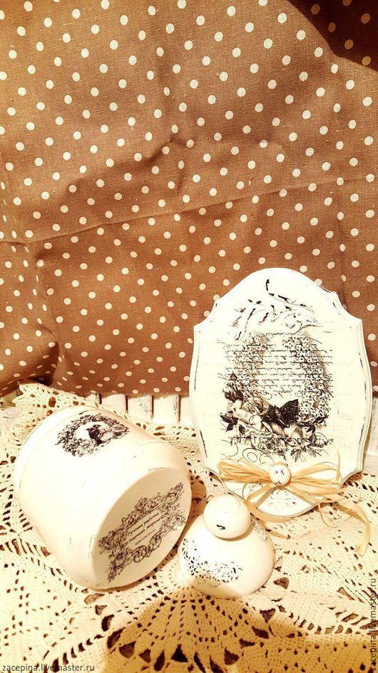 Винтажная посуда. Ярмарка Мастеров - ручная работа. Купить САХАРНИЦА И ПАНО. Handmade. Белый, сахар, птичка на ветке, дерево