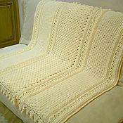 Для дома и интерьера handmade. Livemaster - original item Plaid knitted embossed patterns with thick yarn. Handmade.