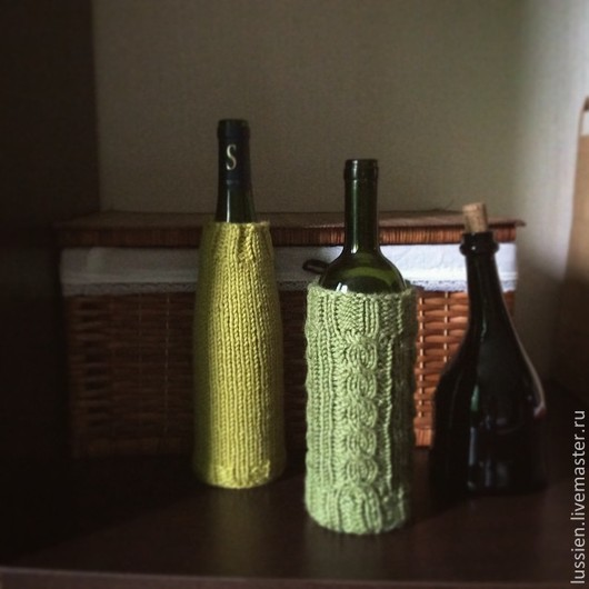 Вазы ручной работы. Ярмарка Мастеров - ручная работа. Купить Декоративный чехол на винную бутылку. Handmade. Чехол, уютный дом