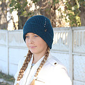 Аксессуары handmade. Livemaster - original item Knitted hats children knitting. Handmade.