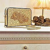 handmade. Livemaster - original item Lauria clutch bag, gold evening bag, gold clutch (84). Handmade.