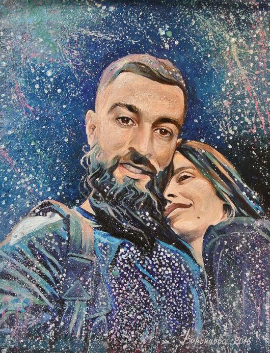 """Люди, ручной работы. Ярмарка Мастеров - ручная работа. Купить """"Селфи из Космоса Любви"""". Handmade. Тёмно-синий, любовь"""
