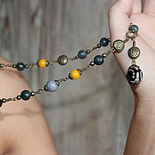 Украшения handmade. Livemaster - original item With pendant made of natural stones