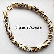 """Necklace handmade. Livemaster - original item Жгут из бисера """"тигровый питон"""". Handmade."""