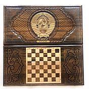 Сувениры и подарки handmade. Livemaster - original item Backgammon carved handmade USSR Art. .023. Handmade.