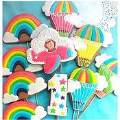 Сувениры и подарки handmade. Livemaster - original item Gingerbread Birthday. Gingerbread Toppers. Handmade.
