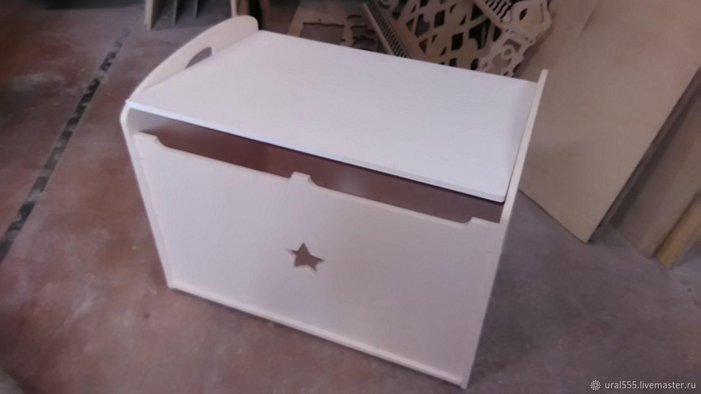 Ящик для игрушек большой с ручками и доводчиком, Комоды, Челябинск,  Фото №1