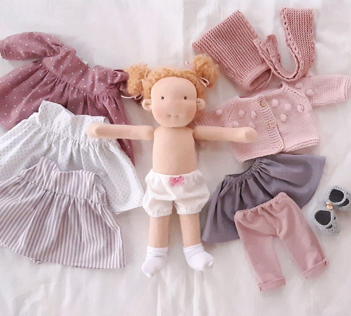 Вальдорфская кукла с набором одежды, Вальдорфская игрушка, Новодвинск, Фото №1