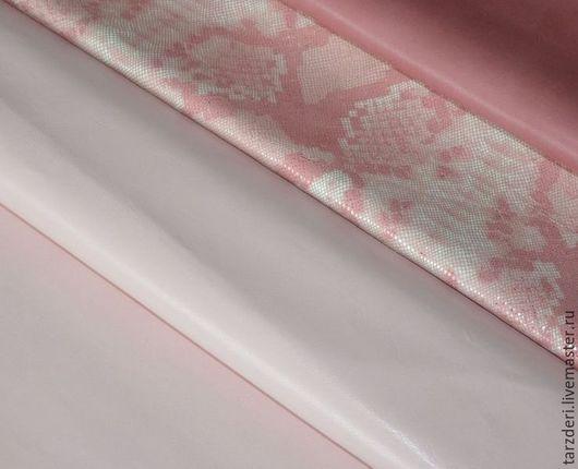 Шитье ручной работы. Ярмарка Мастеров - ручная работа. Купить Натуральная кожа плотная 1 мм - Светло-розовая. Handmade.