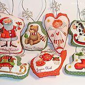 Подарки к праздникам ручной работы. Ярмарка Мастеров - ручная работа 7 шт. Ароматные елочные игрушки. Оранжево-зеленые. Handmade.