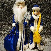 Мягкие игрушки ручной работы. Ярмарка Мастеров - ручная работа Дед Мороз и Снегурочка. Handmade.