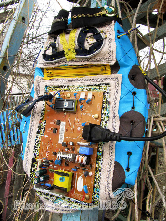 """Рюкзаки ручной работы. Ярмарка Мастеров - ручная работа. Купить Детский текстильный рюкзак-торба """"Робот"""". Handmade. Рюкзак, уплотнитель"""