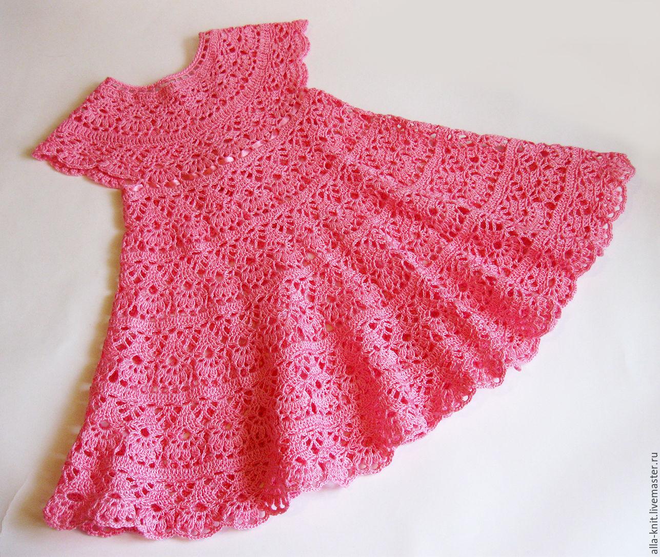 Детские платья вязаные