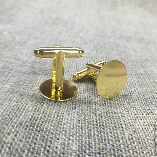 золотая фурнитура для запонок. металлическая основа для запонок