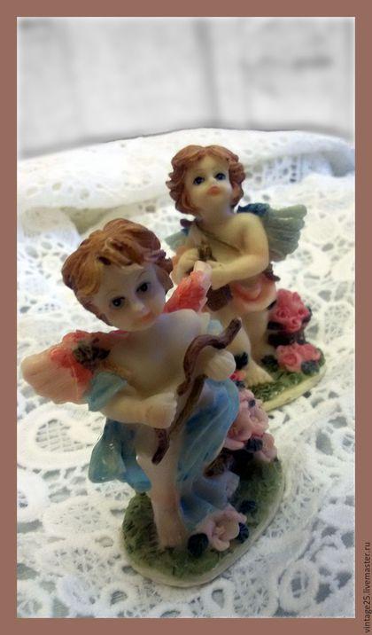 Винтажные предметы интерьера. Ярмарка Мастеров - ручная работа. Купить Ангелочки статуэтки. Handmade. Комбинированный, ангелы, статуэтка, винтажная статуэтка