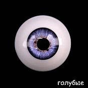 Материалы для творчества ручной работы. Ярмарка Мастеров - ручная работа 20 мм, голубой  Глаза акриловые для кукол. Handmade.