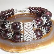 Украшения handmade. Livemaster - original item Double Bracelet with garnet. Handmade.