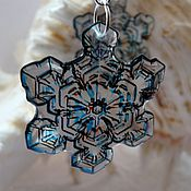 Украшения handmade. Livemaster - original item Snowflake the February Blizzard earrings. Handmade.