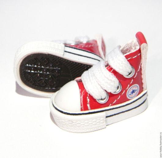 Куклы и игрушки ручной работы. Ярмарка Мастеров - ручная работа. Купить Кеды 3,8см. Очень маленькие!! Обувь для кукол.. Handmade.