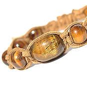 Украшения handmade. Livemaster - original item Shamballa bracelet with tiger`s-eye stone. Handmade.