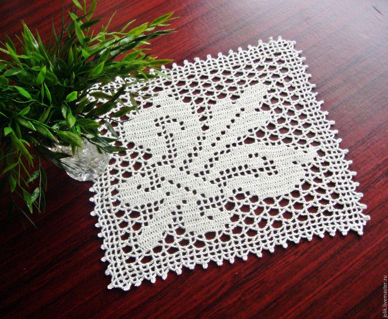Doily crochet Fleur de Lis – shop online on Livemaster with shipping ...