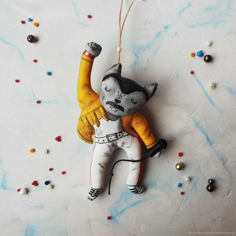 Котик Фредди. Интерьерная игрушка, Портретная кукла, Самара,  Фото №1
