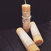 Сувениры и подарки handmade. Livemaster - original item Mini candles from honeycombs, 10cm. Handmade.
