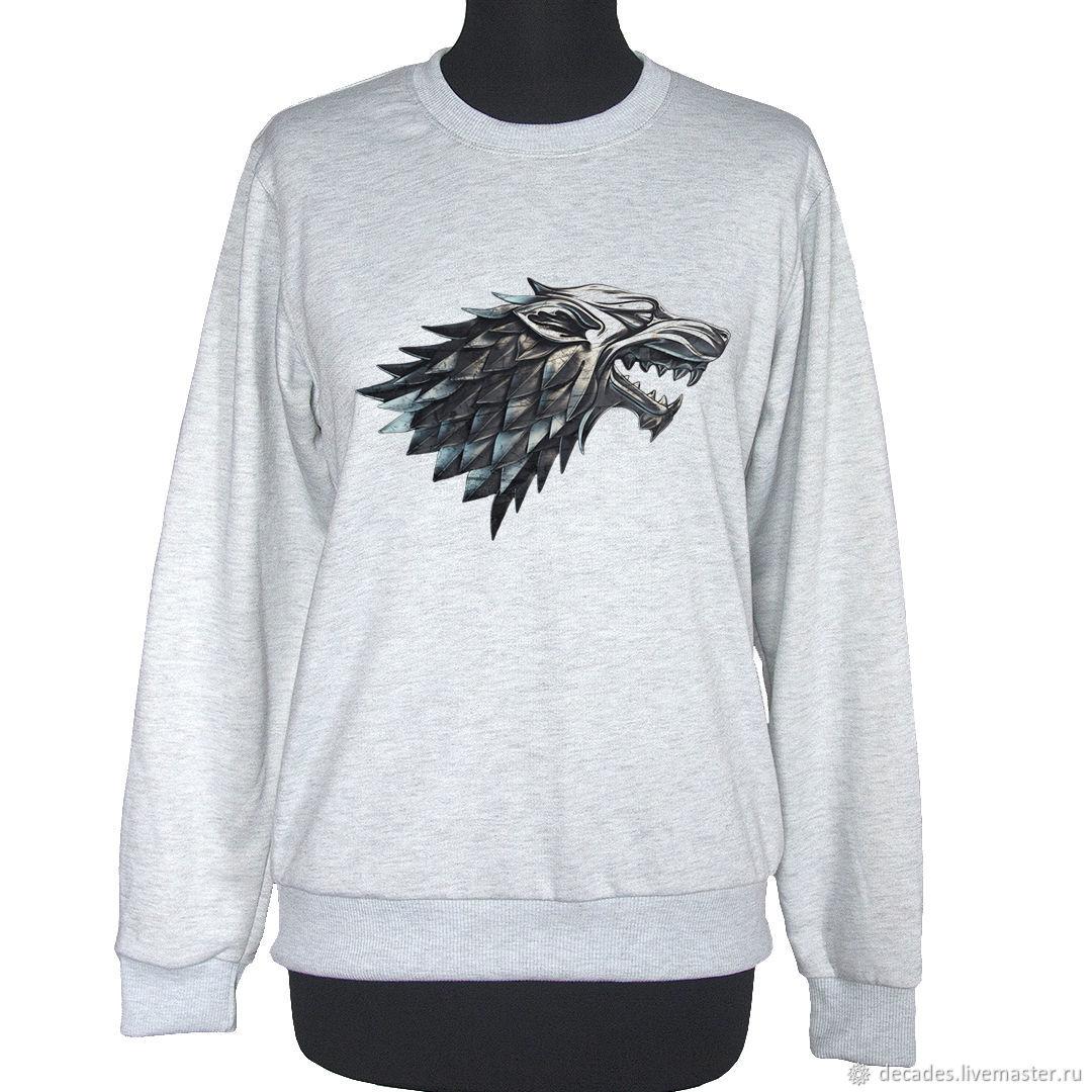 Game of thrones sweatshirt. House Stark, Sweatshirts, Moscow,  Фото №1