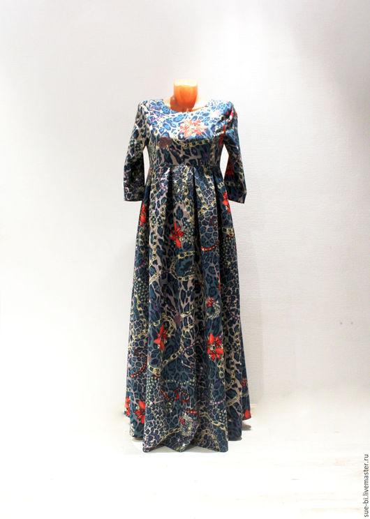 Платья ручной работы. Ярмарка Мастеров - ручная работа. Купить Длинное платье из шерсти Этро. Handmade. Длинное платье
