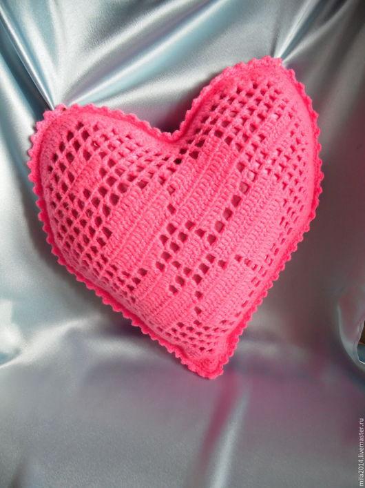 Подарки для влюбленных ручной работы. Ярмарка Мастеров - ручная работа. Купить подушка сердце. Handmade. Розовый, подушка на диван