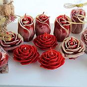 Свечи ручной работы. Ярмарка Мастеров - ручная работа Свечи: Розы. Handmade.