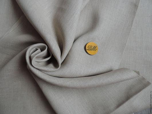 Шитье ручной работы. Ярмарка Мастеров - ручная работа. Купить ткань лен серо бежевый плотный. Handmade. Лен