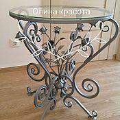 Столы ручной работы. Ярмарка Мастеров - ручная работа Столик с вечными розами. Handmade.
