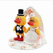 """Свадебный салон ручной работы. Ярмарка Мастеров - ручная работа Свадебная композиция """"Свадебные утки"""". Handmade."""
