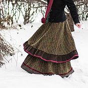 "Одежда ручной работы. Ярмарка Мастеров - ручная работа Шерстяная юбка ""Зеленая сказка"". Handmade."